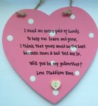 Shabby Personalised Chic Will You Be My Godmother Heart Any Names Christening